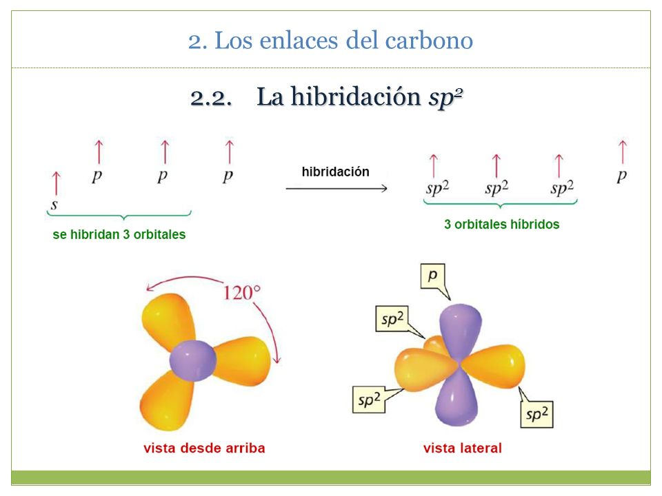 2. Los enlaces del carbono Enlace σ sp 3 - sp 3 según la TOM.