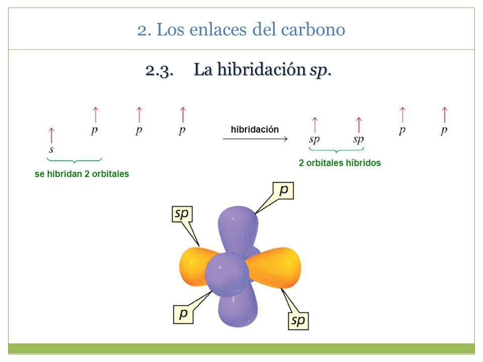 2. Los enlaces del carbono Enlace π Enlace π