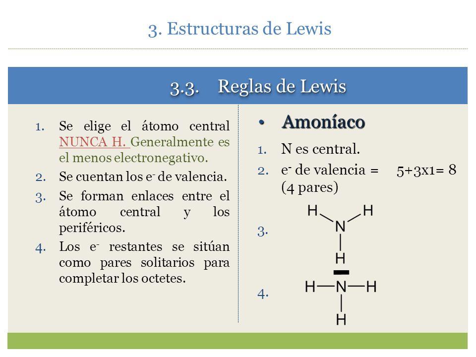 3. Estructuras de Lewis 3.2. El enlace químico. Estado de valencia. Las reglas precedentes sugieren la forma molecular CH 2 CH 4 Esta molécula existe