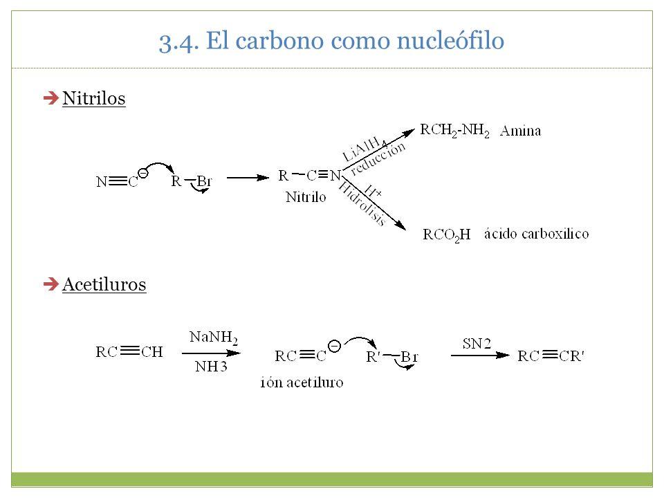 3.4. El carbono como nucleófilo Nitrilos Acetiluros