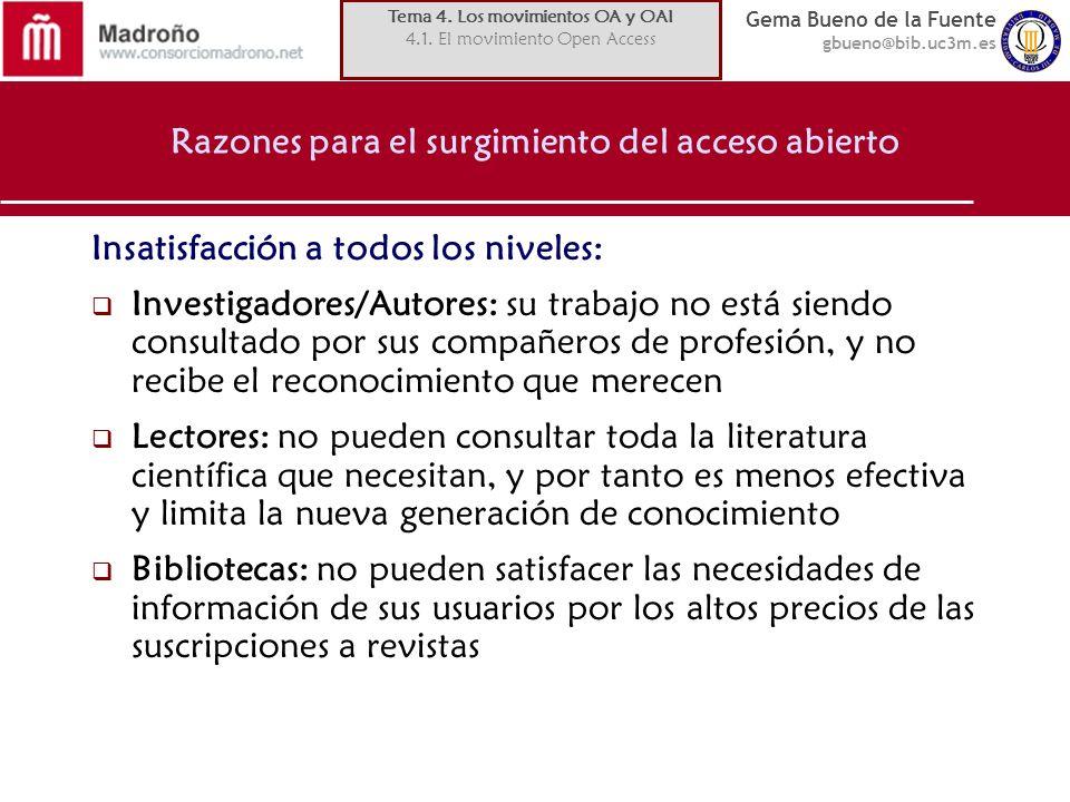 Gema Bueno de la Fuente gbueno@bib.uc3m.es Proveedores de datos Algunas cifras en OpenDoar (Directorio-Registro de repositorios de acceso abierto): http://www.opendoar.org/http://www.opendoar.org/ 831 repositorios registrados.