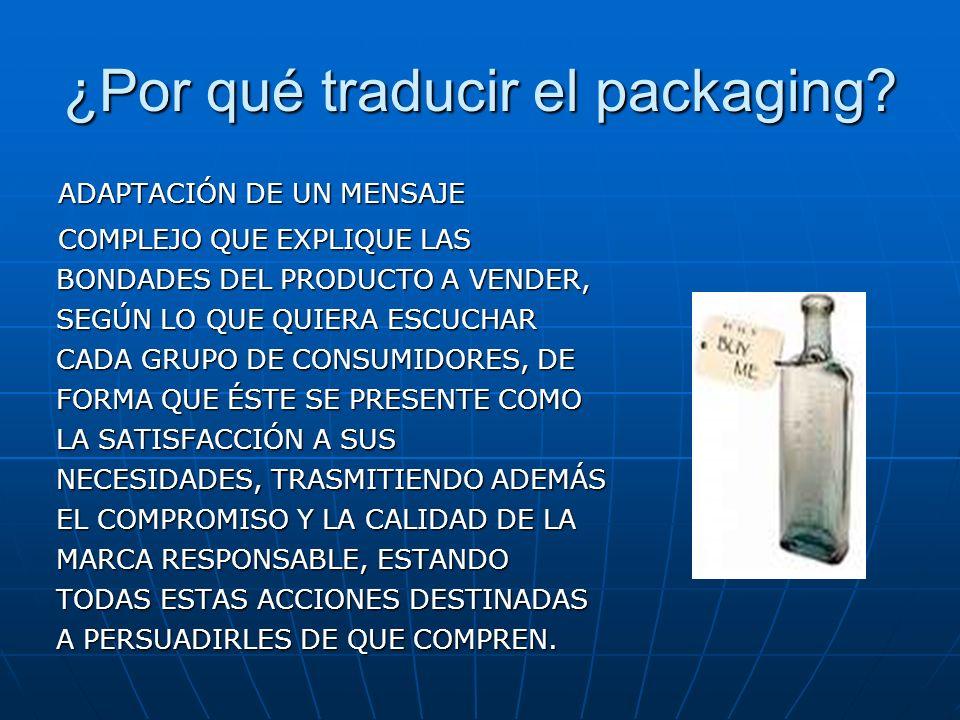 ¿Por qué traducir el packaging.
