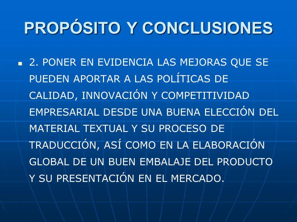 PROPÓSITO Y CONCLUSIONES 2.