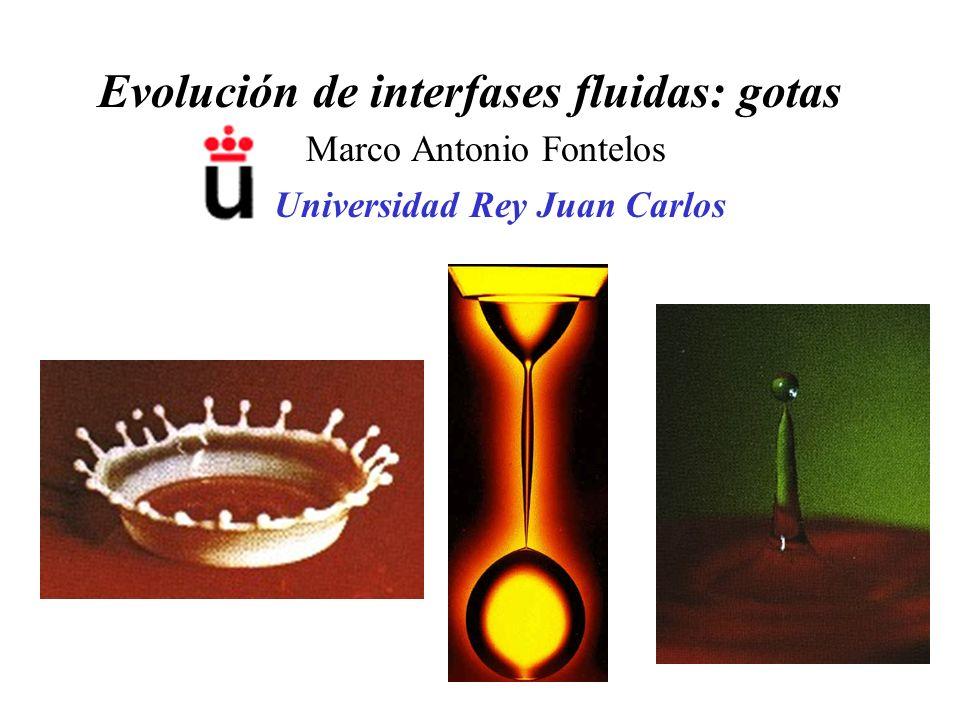 Evolución de interfases fluidas: gotas Marco Antonio Fontelos Universidad Rey Juan Carlos