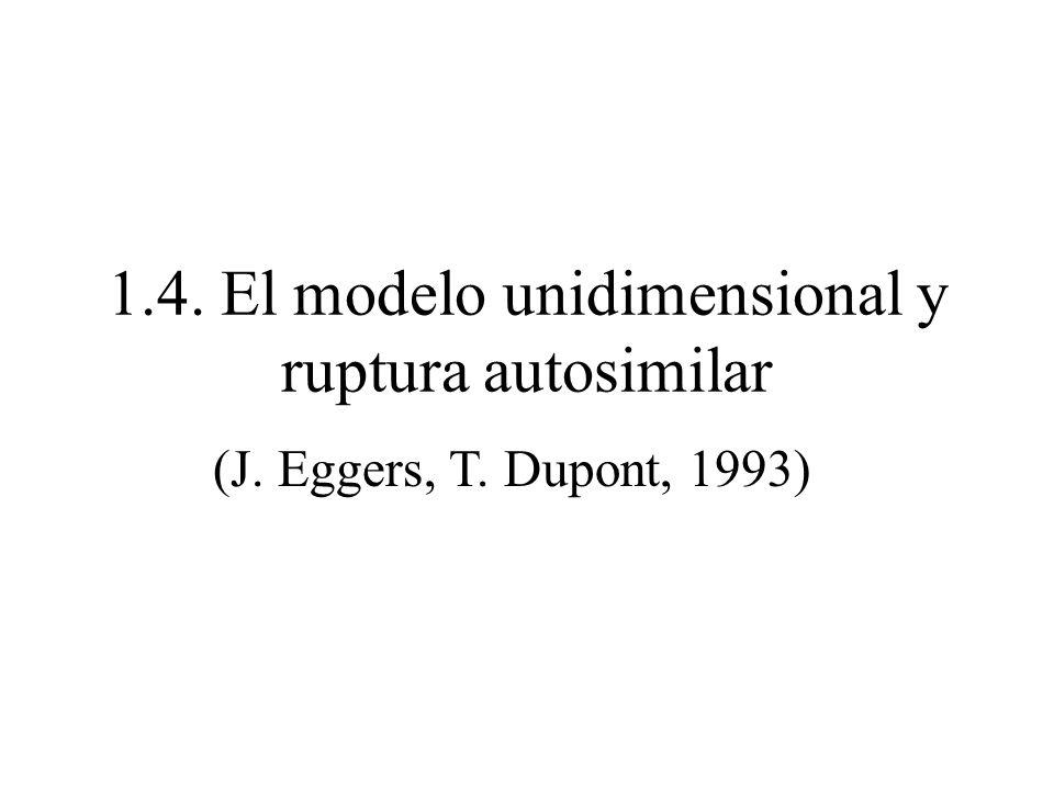 1.4. El modelo unidimensional y ruptura autosimilar (J. Eggers, T. Dupont, 1993)