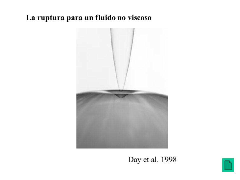La ruptura para un fluido no viscoso Day et al. 1998