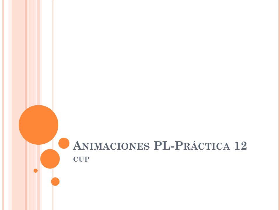 A NIMACIONES PL-P RÁCTICA 12 CUP