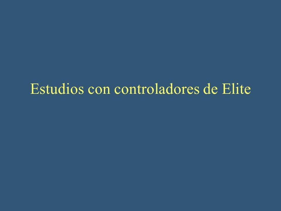 Estudios con controladores de Elite