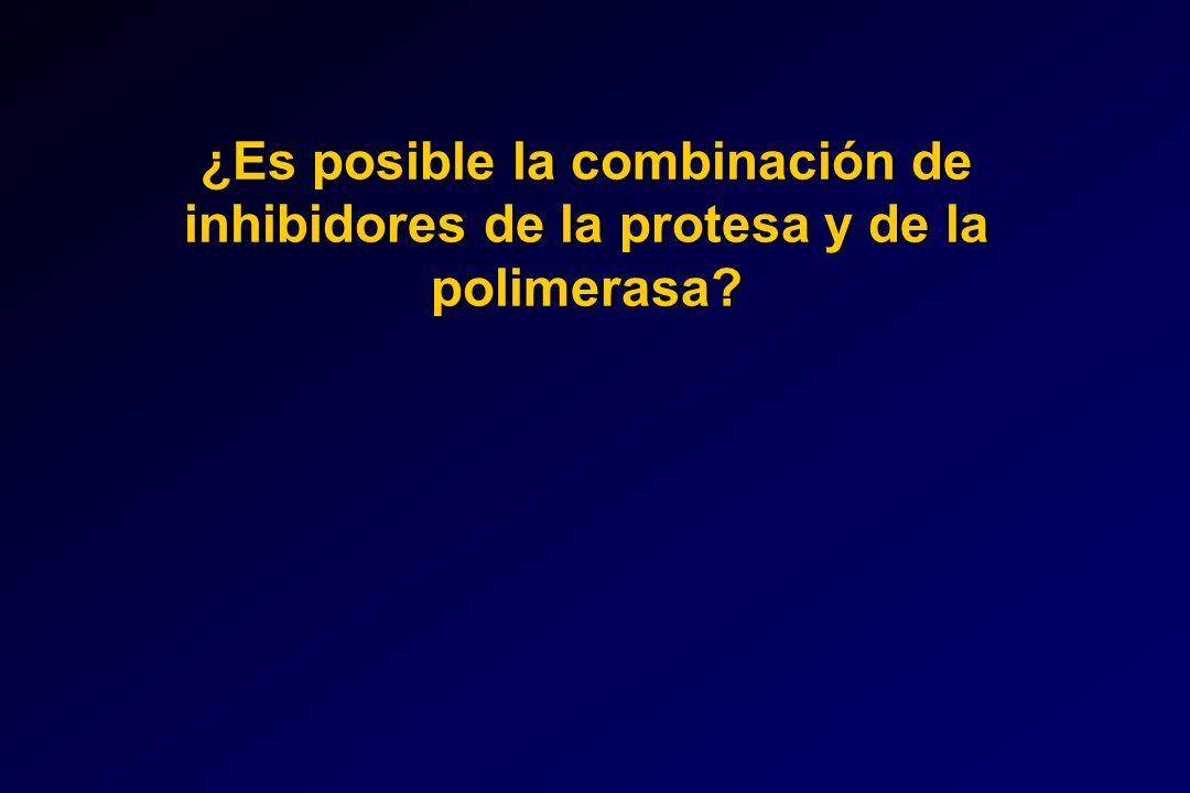 ¿Es posible la combinación de inhibidores de la protesa y de la polimerasa?
