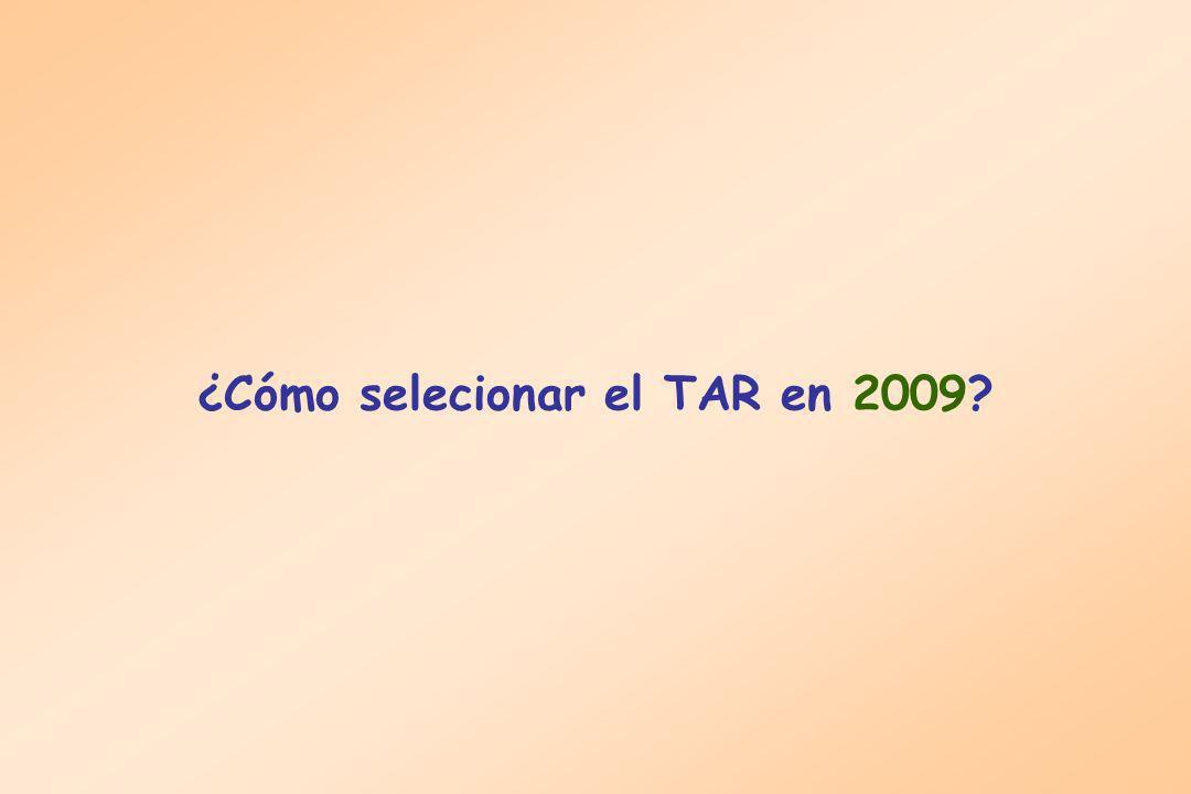 ¿Cómo selecionar el TAR en 2009?