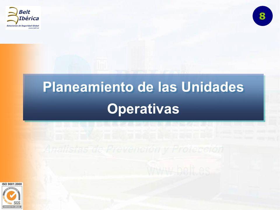 Planeamiento de las Unidades Operativas 8