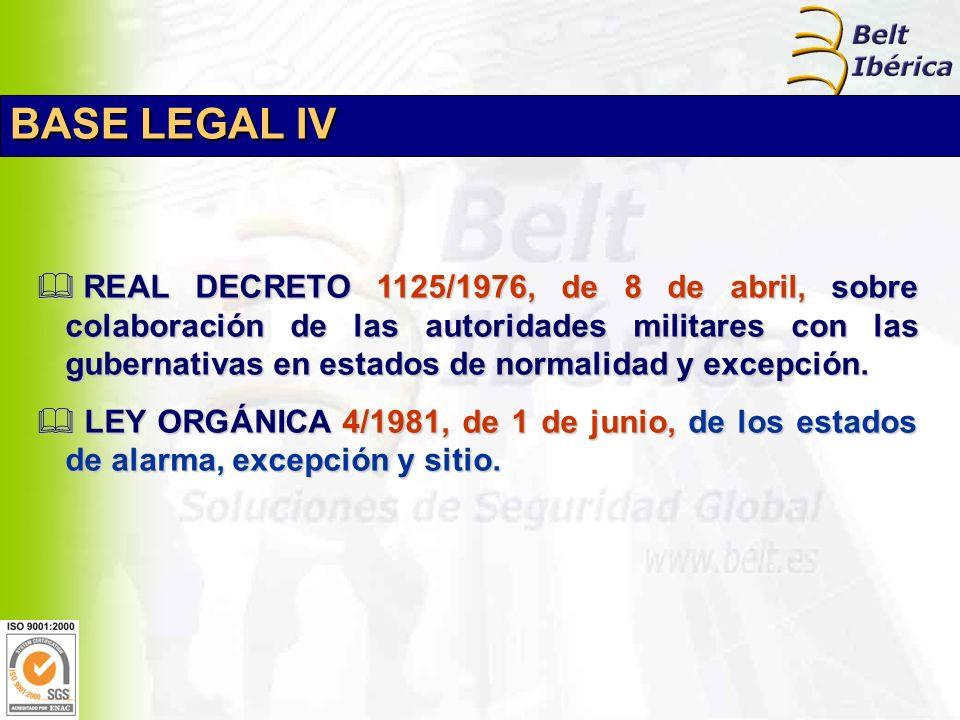 REAL DECRETO 1125/1976, de 8 de abril, sobre colaboración de las autoridades militares con las gubernativas en estados de normalidad y excepción.