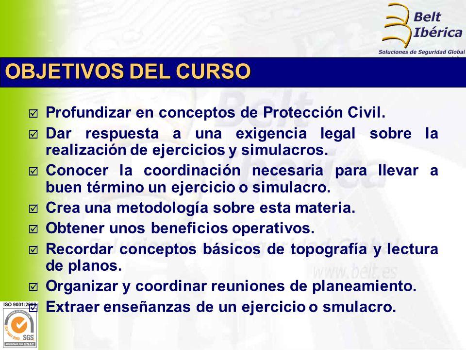 Profundizar en conceptos de Protección Civil.