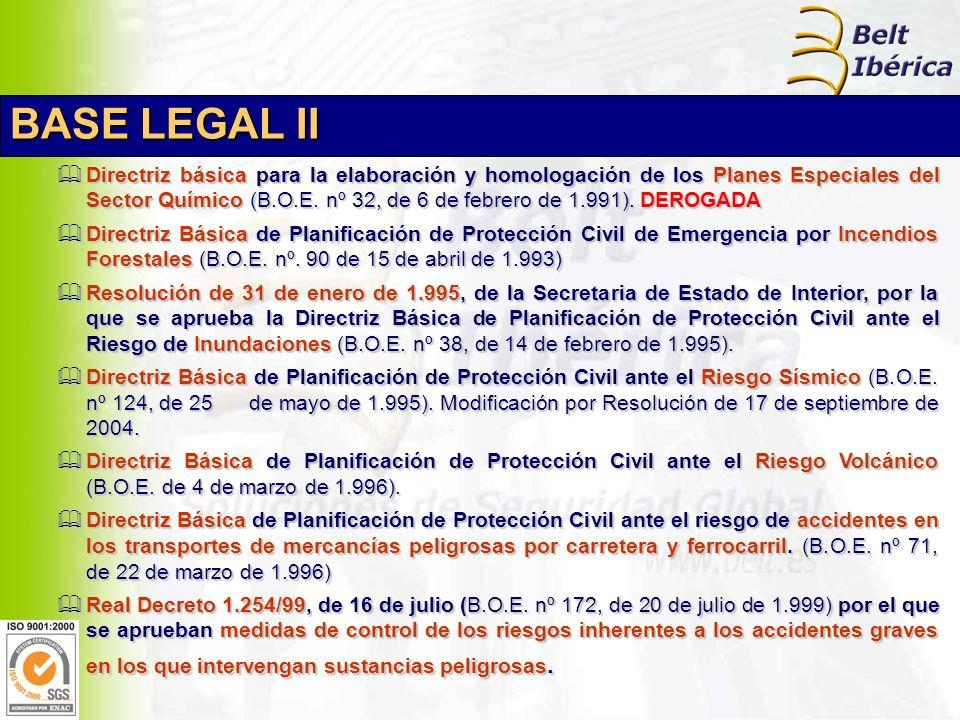 Directriz básica para la elaboración y homologación de los Planes Especiales del Sector Químico (B.O.E.