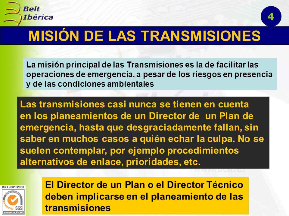 En un ejercicio o simulacro emplearemos el Método de Planeamiento, pero hay que tener que todo evento de estas características se basan en un Plan de Emergencia, el cual también ha sufrido su proceso de planeamiento, y en lo que respecta a Transmisiones, conforman lo que se llama en el Plan correspondiente Anexo de Transmisiones, y que en realidad lo constituyen los documentos técnico/tácticos siguientes: Instrucción Básica de Transmisiones Instrucción Básica de Transmisiones Instrucción Básica de Transmisiones Instrucciones Técnicas de Transmisiones 15