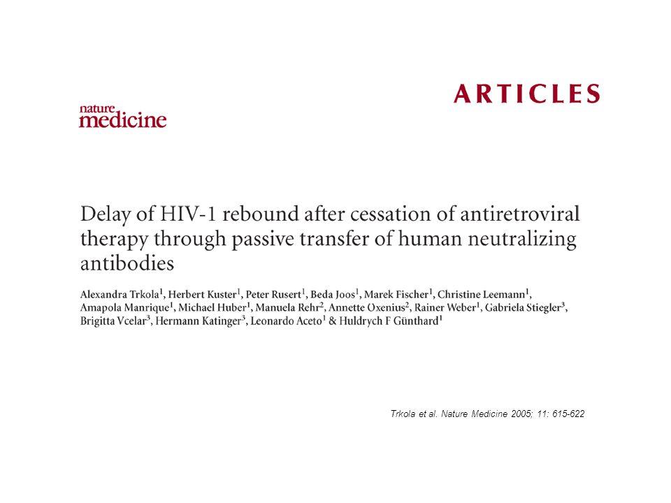 Trkola et al. Nature Medicine 2005; 11: 615-622