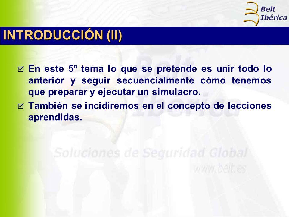 INTRODUCCIÓN (II) En este 5º tema lo que se pretende es unir todo lo anterior y seguir secuencialmente cómo tenemos que preparar y ejecutar un simulac