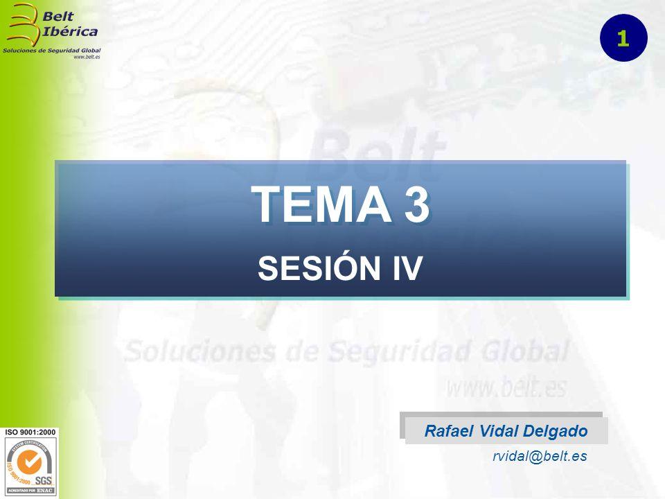 TEMA 3 SESIÓN IV Rafael Vidal Delgado rvidal@belt.es 1