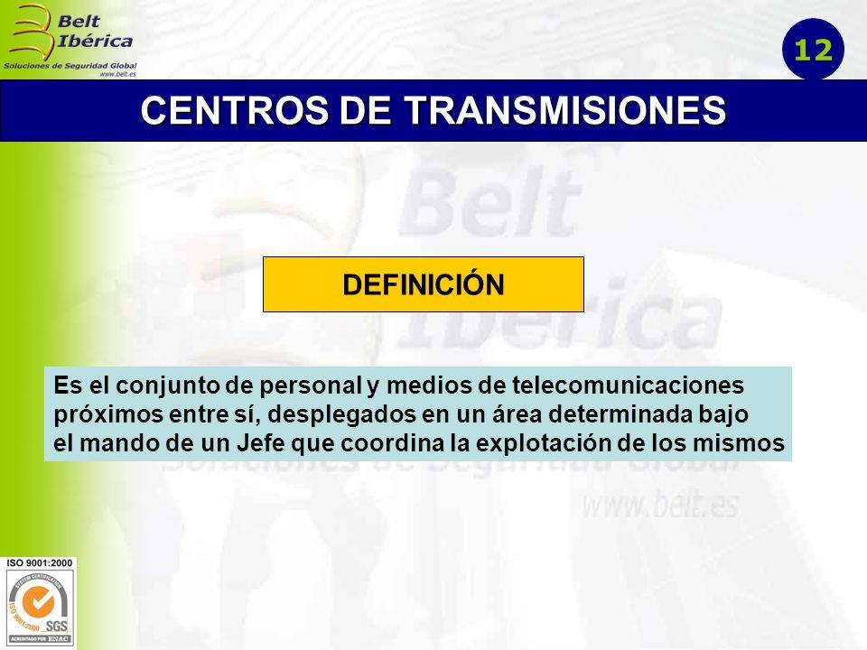 Jefatura del Centro: Técnico en Emergencia y Especialista en Telecomunicaciones Centro de Mensajes: Registro y salida de mensajes.