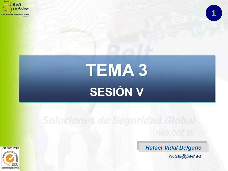 TEMA 3 SESIÓN V Rafael Vidal Delgado rvidal@belt.es 1