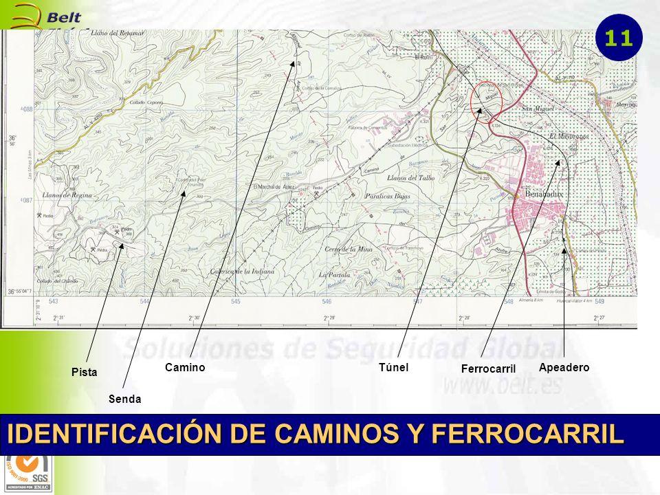 Ferrocarril TúnelApeadero Pista Camino Senda IDENTIFICACIÓN DE CAMINOS Y FERROCARRIL 11