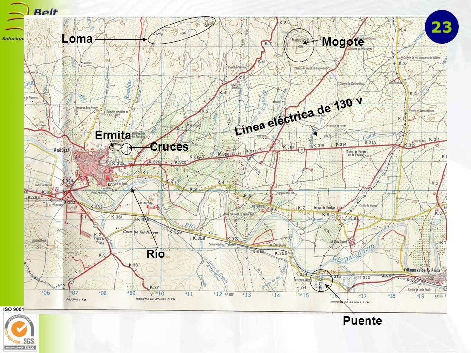 Loma Mogote Línea eléctrica de 130 v Puente Río Ermita Cruces 23
