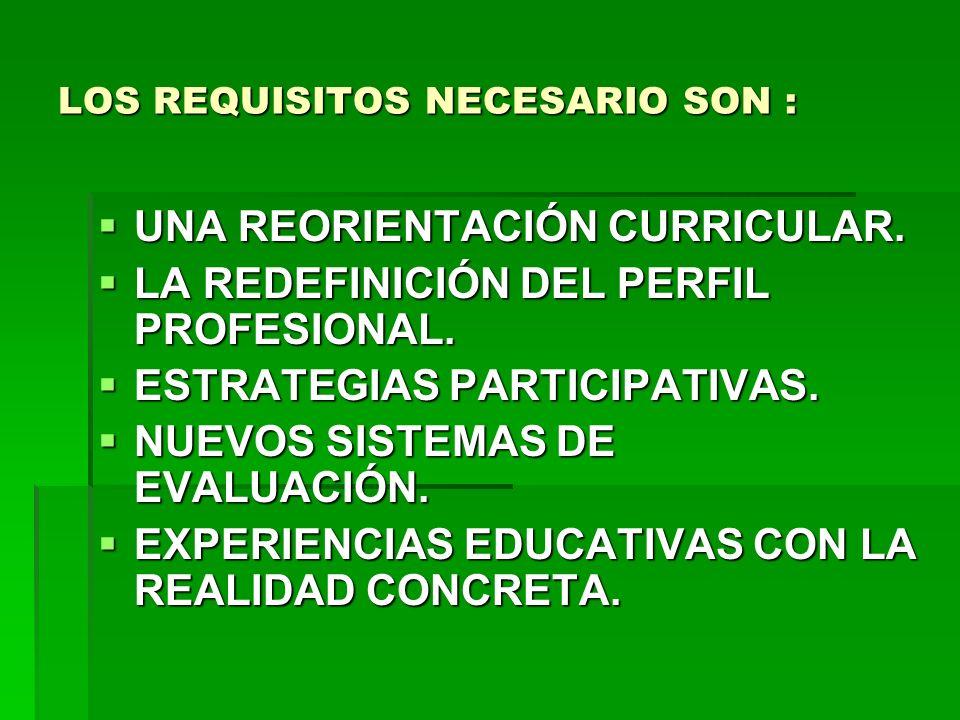 LA EDUCACIÓN BASADA EN COMPETENCIAS: COMPETENCIAS GENERALES.
