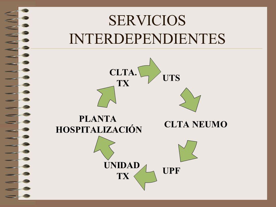 SERVICIOS INTERDEPENDIENTES UTS CLTA NEUMO UPF UNIDAD TX PLANTA HOSPITALIZACIÓN CLTA. TX