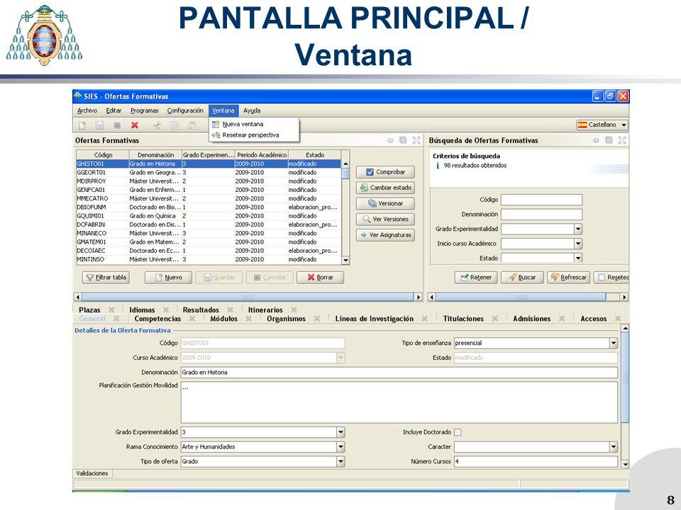 PANTALLA PRINCIPAL / Tareas más Utilizadas / Idioma 9
