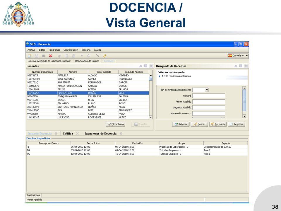 DOCENCIA / Vista General 38