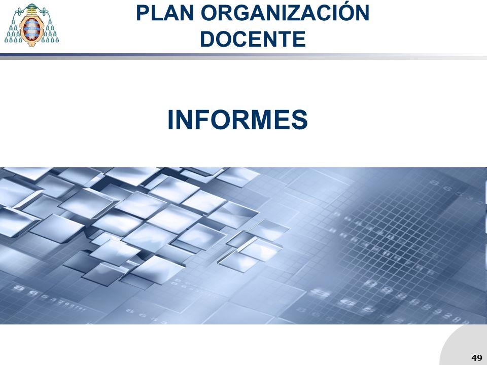 PLAN ORGANIZACIÓN DOCENTE INFORMES 49