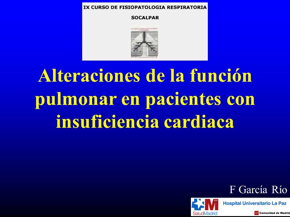 Alteraciones de la función pulmonar en pacientes con insuficiencia cardiaca F García Río