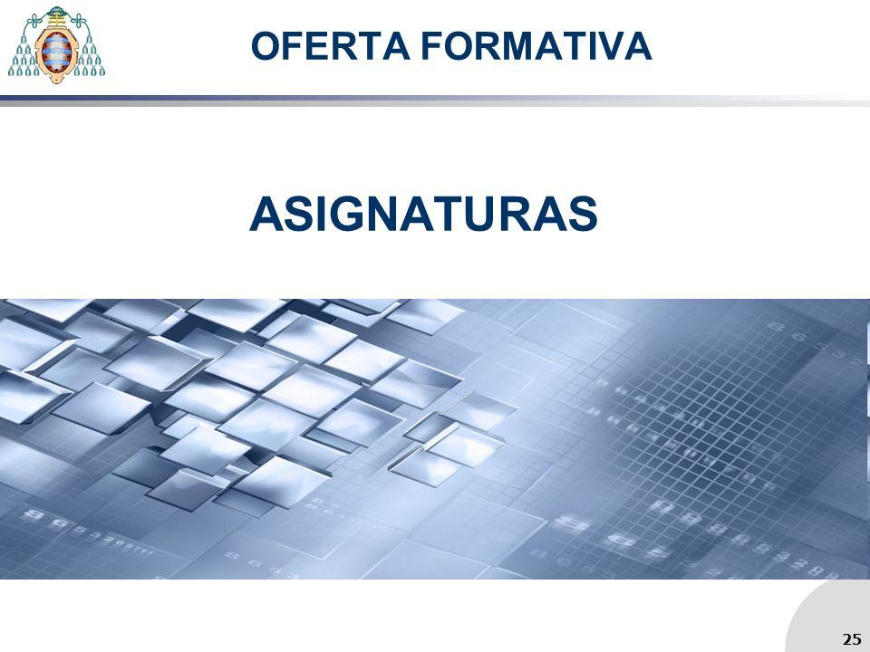 OFERTA FORMATIVA ASIGNATURAS 25