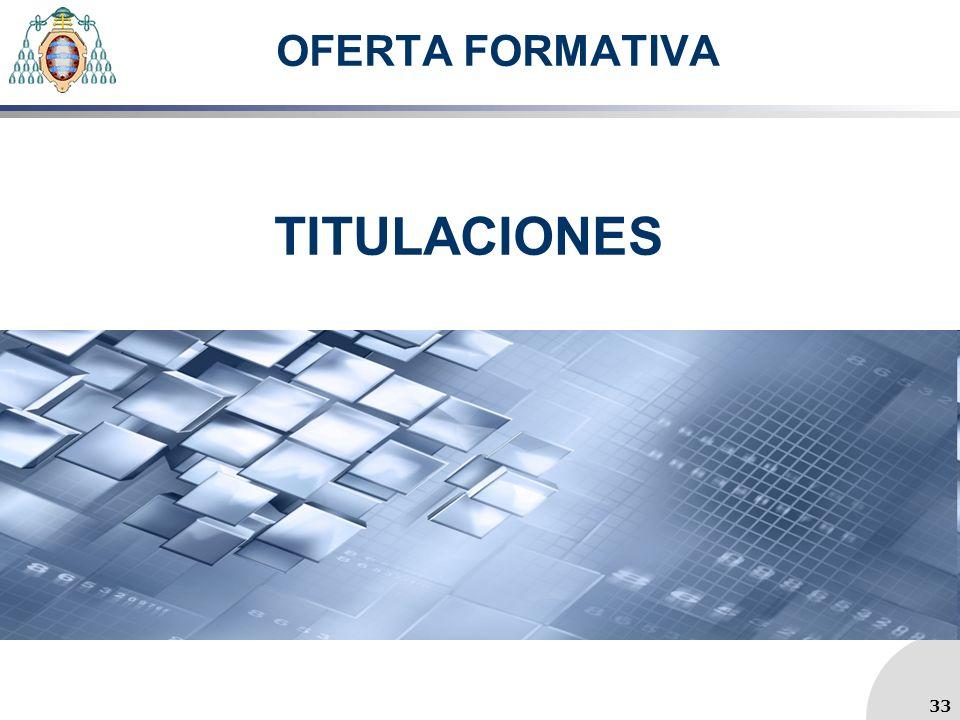OFERTA FORMATIVA TITULACIONES 33