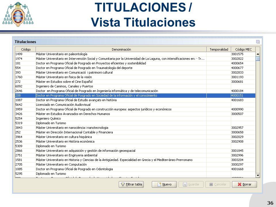 TITULACIONES / Vista Titulaciones 36