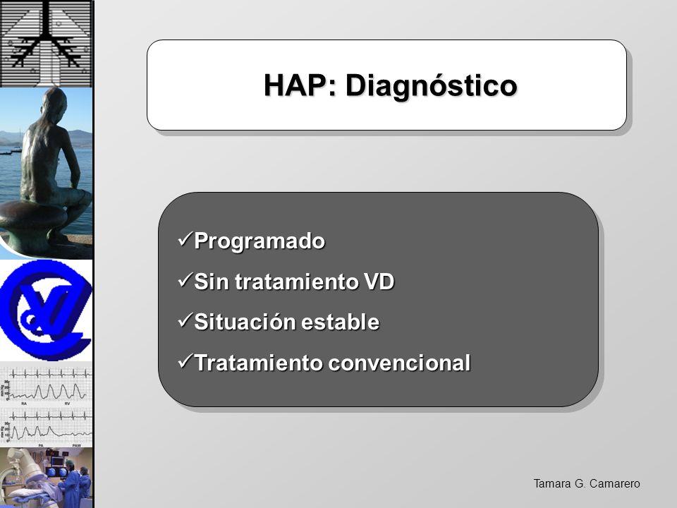 Tamara G. Camarero HAP: Diagnóstico HAP: Diagnóstico Programado Programado Sin tratamiento VD Sin tratamiento VD Situación estable Situación estable T