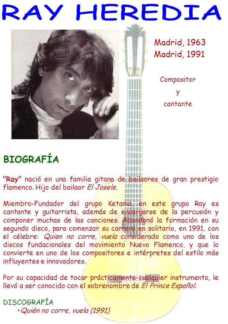Madrid, 1963 Madrid, 1991 Compositor y cantante