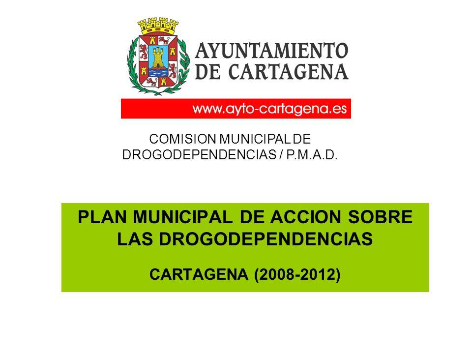 PLAN MUNICIPAL DE ACCION SOBRE LAS DROGODEPENDENCIAS CARTAGENA (2008-2012) COMISION MUNICIPAL DE DROGODEPENDENCIAS / P.M.A.D.