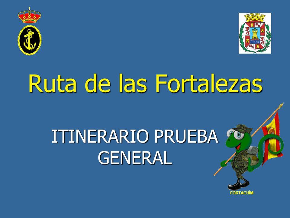 Ruta de las Fortalezas ITINERARIO PRUEBA GENERAL FORTACHÍM