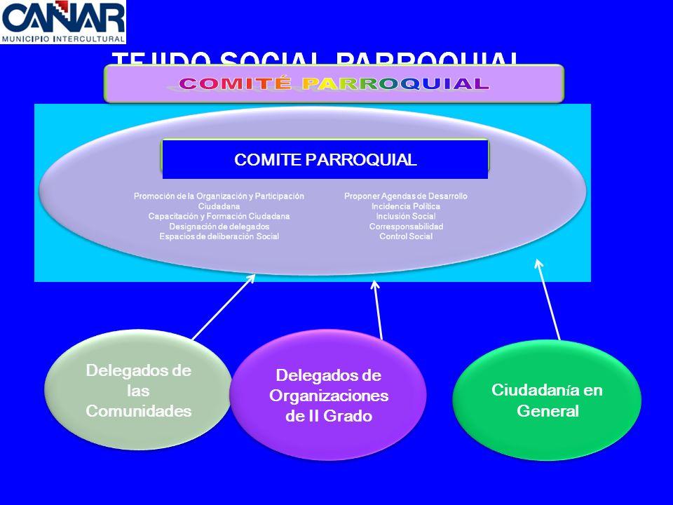 COMITE PARROQUIAL Delegados de las Comunidades Delegados de Organizaciones de II Grado Ciudadan í a en General