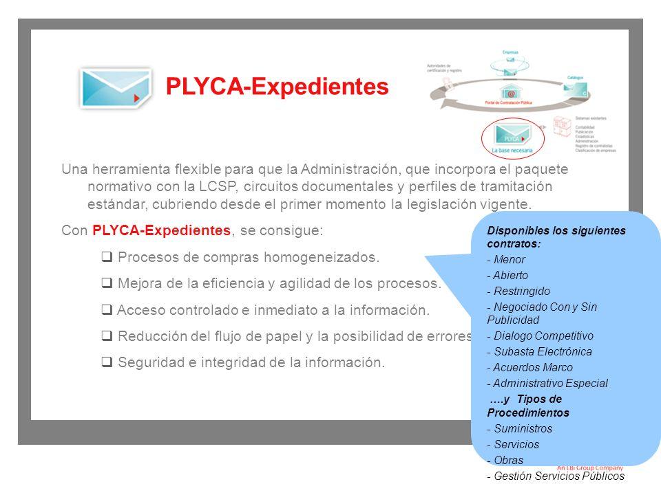 Algunas de las funcionalidades que PLYCA-Expedientes ofrece: Información detallada del gasto.