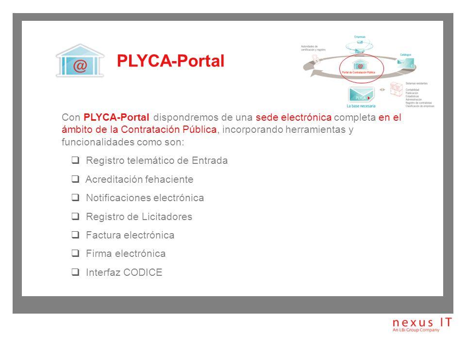 PLYCA-Empresa, es la herramienta que se utiliza para la presentación electrónica de documentos.