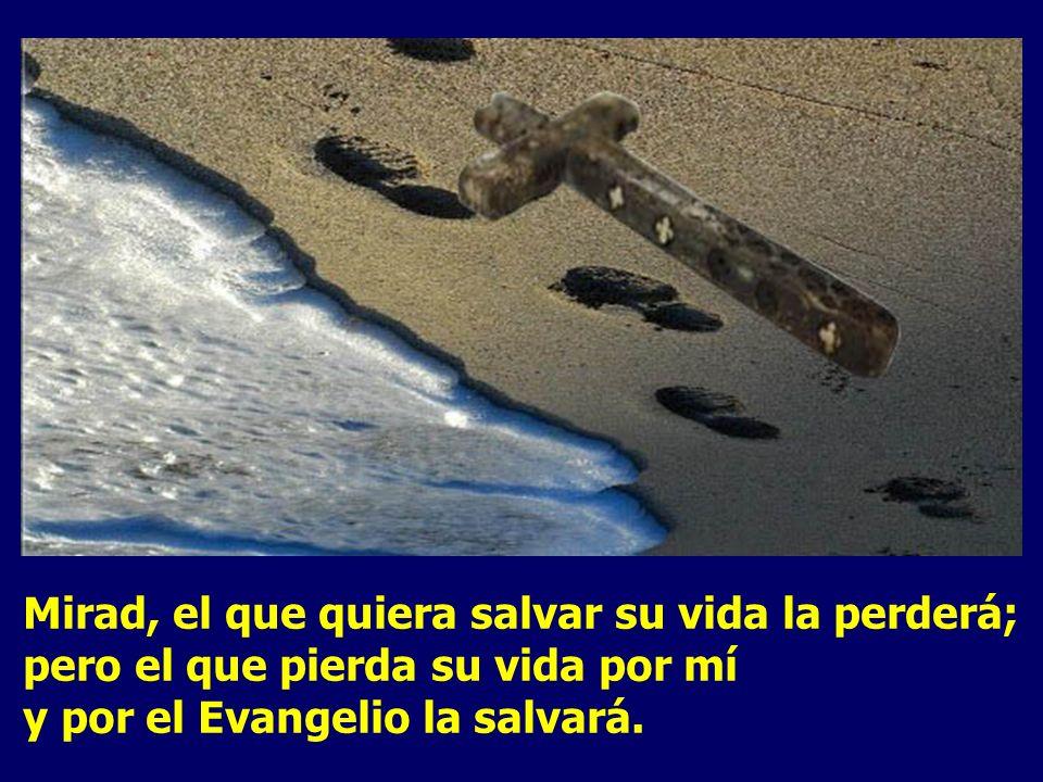 El que quiera venirse conmigo, que se niegue a sí mismo, que cargue con su cruz y me siga. Después llamó a la gente y a sus discípulos, y les dijo:
