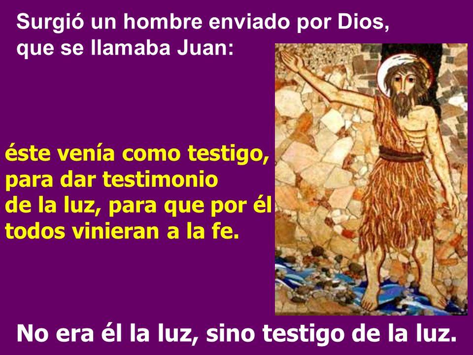 En medio de vosotros hay uno que no conocéis... En el Evangelio Juan Bautista ofrece el gran motivo de la ALEGRIA: El texto presenta a Juan Bautista,
