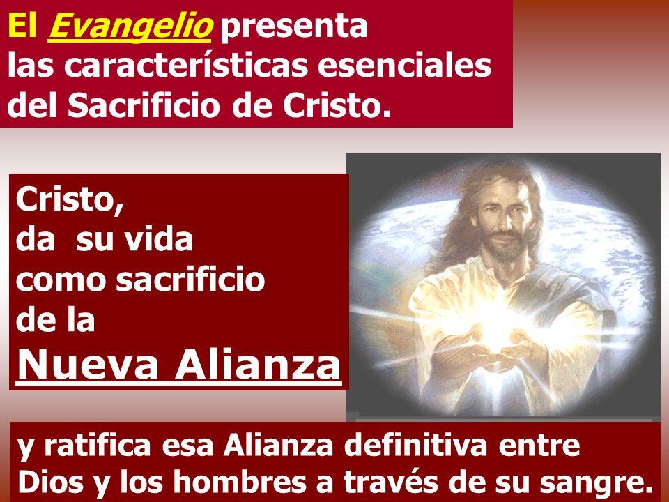 La Sangre de Cristo sella una ALIANZA NUEVA y definitiva entre Dios y la humanidad. No usa sangre de machos cabríos ni de becerreros sino la suya prop