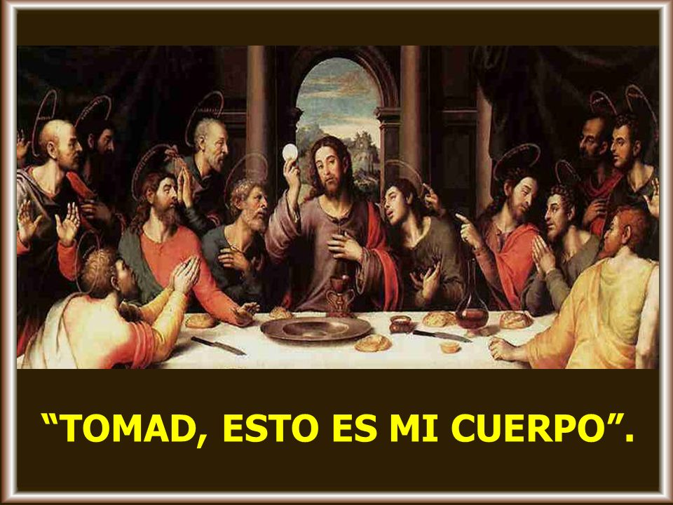 Mientras comían, Jesús tomó pan, pronunció la bendición, lo partió y se lo dio, diciendo: