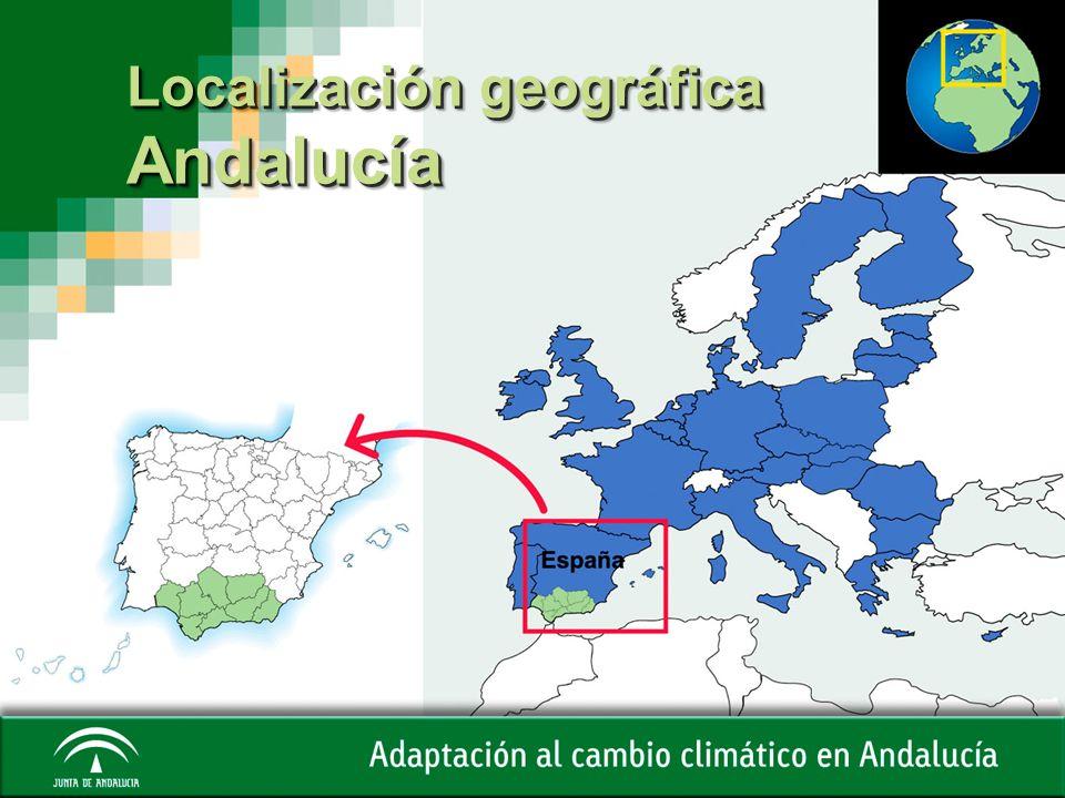 Localización geográfica Andalucía Andalucía