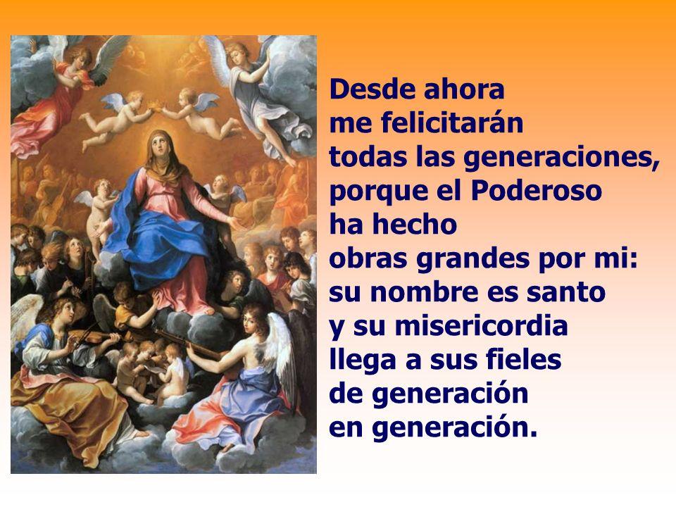 Proclama mi alma la grandeza del Señor, se alegra mi espíritu en Dios mi salvador; porque ha mirado la humillación de su esclava.