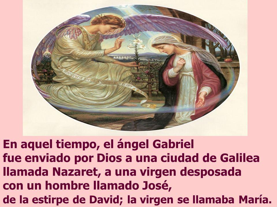 El Evangelio muestra la realización de la promesa de Dios: MARÍA, con su SÍ, se convierte en MORADA de Jesús, preparada por el mismo Dios.
