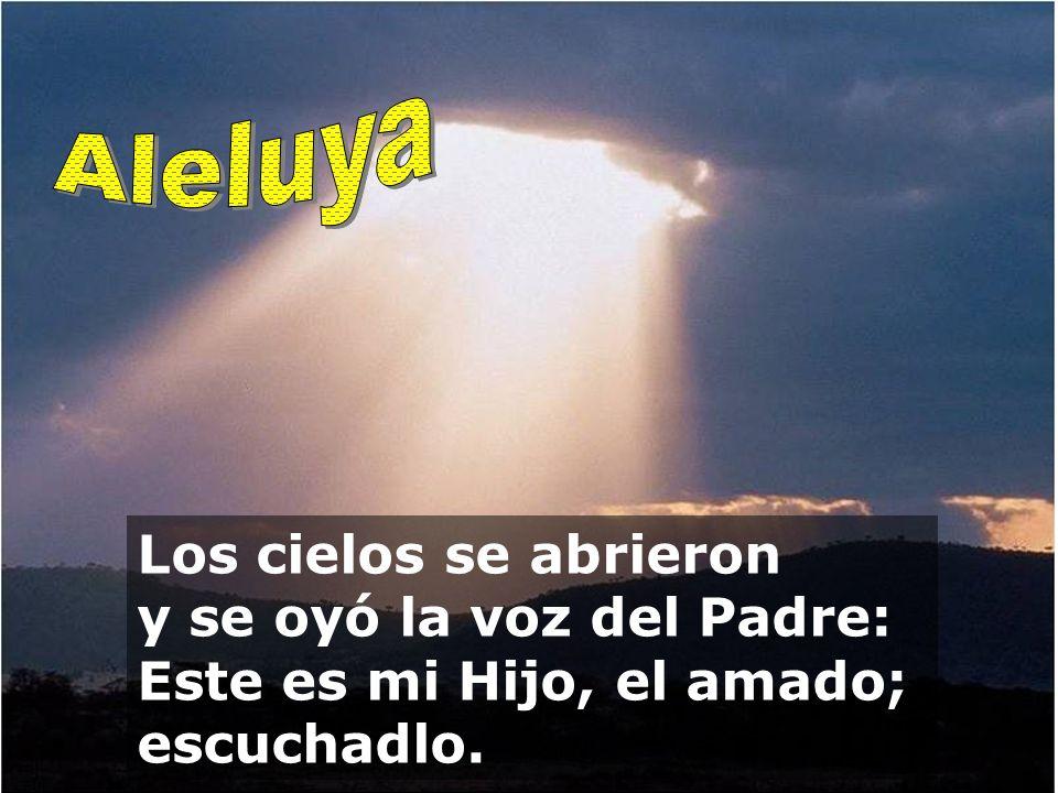 El Dios de la gloria ha tronado. En su templo, un grito unánime: ¡Gloria! El Señor se sienta por encima del aguacero. El Señor se sienta como rey eter